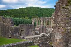 Tintern abbey cathedral ruins. Royalty Free Stock Photography