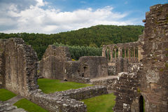 Tintern abbey cathedral ruins. Royalty Free Stock Images