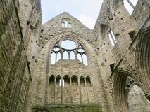 Great windows of the abbey royalty free stock photography