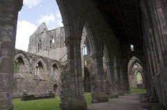 Tintern Abbey Nave in Wales Royalty Free Stock Photos