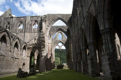 Tintern Abbey Nave in Wales Royalty Free Stock Photo