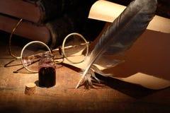 Tintero y pluma Fotografía de archivo libre de regalías
