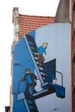 Tintin in Brussel Stock Foto's