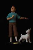 Tintin och snöig Bruges _ Royaltyfri Foto