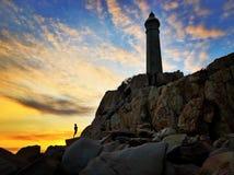TinTin und schöner Sonnenuntergang stockfotografie