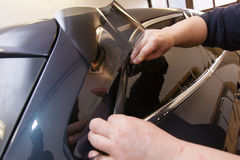 Tinting of glass in car Stock Photography