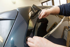 Tinting of glass in car Royalty Free Stock Image