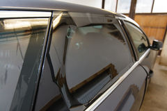 Tinting of glass in car Royalty Free Stock Photo
