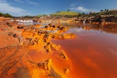 Tinto河,韦尔瓦省,西班牙 免版税库存照片