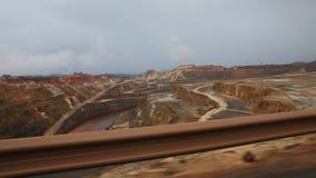 tinto του Ρίο ορυχείων απόθεμα βίντεο