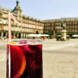 Tinto de verano in Plaza Mayor in Madrid, Spain Stock Photo