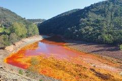 Tinto River, Huelva, Spanien Lizenzfreies Stockbild