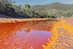 Tinto rzeka, Huelva, Hiszpania Zdjęcia Stock