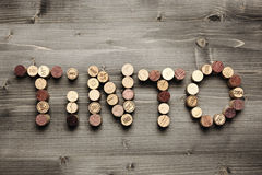 TINTO written with corks Royalty Free Stock Photo