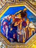 Tintoretto Titian doge som målar Palazzo Ducale Doge& x27; s-slott Ven Royaltyfria Foton