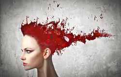 Tintura de cabelo Fotos de Stock