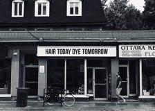 Tintura de hoje do cabelo amanhã imagem de stock royalty free