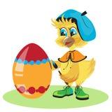 Tintura dell'uovo del pollo per Pasqua Fotografie Stock Libere da Diritti