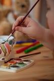 Tintura dell'uovo di Pasqua Fotografie Stock