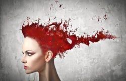 Tintura di capelli Fotografie Stock