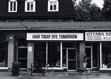 Tintura di oggi dei capelli domani immagine stock libera da diritti