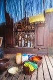 Tinture domestiche del tessuto Fotografie Stock Libere da Diritti