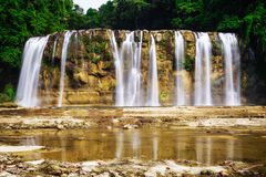 Tinuy An waterfall stock photography
