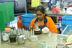 Tinware worker. Is working in the factory, in Kuala Lumpur Malaysia Stock Image