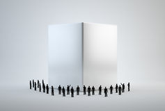 Tiny 3d people standing around Stock Image