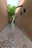 Tiny alleyways in the old arabic merchant quarter. Tiny alleyways  in the old arabic merchant quarter of Bastakiya in Dubai, United Arab Emirates Stock Image