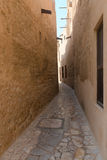 Tiny alleyways in the old arabic merchant quarter Stock Photos