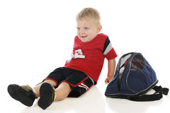 Tiny Athlete, Relaxed and Happy Stock Photography