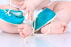 Tiny baby feet Stock Photography