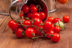 Free Tiny Baby Tomatoes In A Small Bucket Royalty Free Stock Photo - 77738675