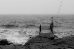 Tiny bathing pier Stock Image