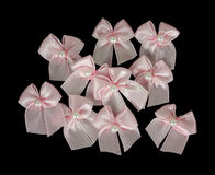 Tiny bows group Royalty Free Stock Image