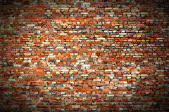Tiny brickwall red vig Royalty Free Stock Photography