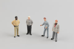 Tiny business people of group Royalty Free Stock Images