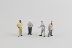 Tiny business people of group Stock Images