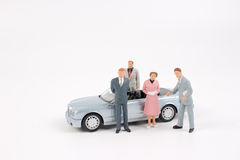 Tiny business people of group Royalty Free Stock Photos