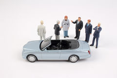 Tiny business people of group Royalty Free Stock Image