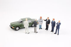 Tiny business people of group Stock Photos