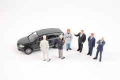 Tiny business people of group Royalty Free Stock Photo