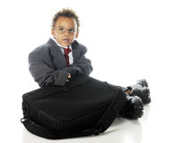 Tiny Businessman Royalty Free Stock Photography