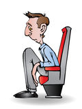 Tiny chair. Illustration of a guy too big for the tiny chair vector illustration