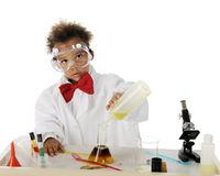 Tiny Chemist Royalty Free Stock Image