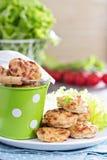 Tiny chicken burgers Royalty Free Stock Photo