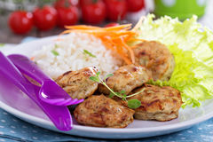 Tiny chicken burgers Royalty Free Stock Images