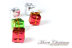 Tiny christmas gifts Stock Image