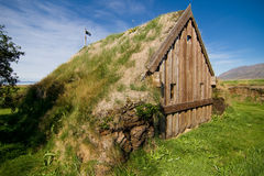 Tiny church with grass roof Royalty Free Stock Photos